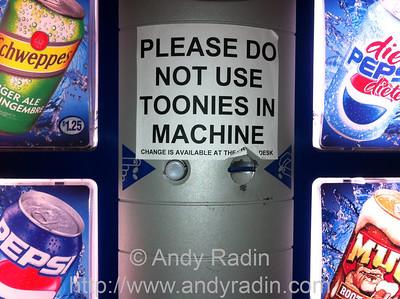 Canadian soda machine