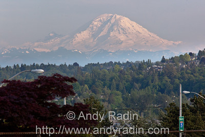 Mt Rainier from Seattle, on a rare clear day