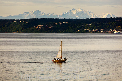 The Cascades, from Puget Sound