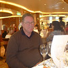 Waiting for the wine to start pouring at the wine tasting event onboard.