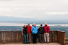 This is our traveling group for half our trip minus Sandy taking the picture. Anchorage is in the distance on the right an this lookout is not far from where her sister lives.