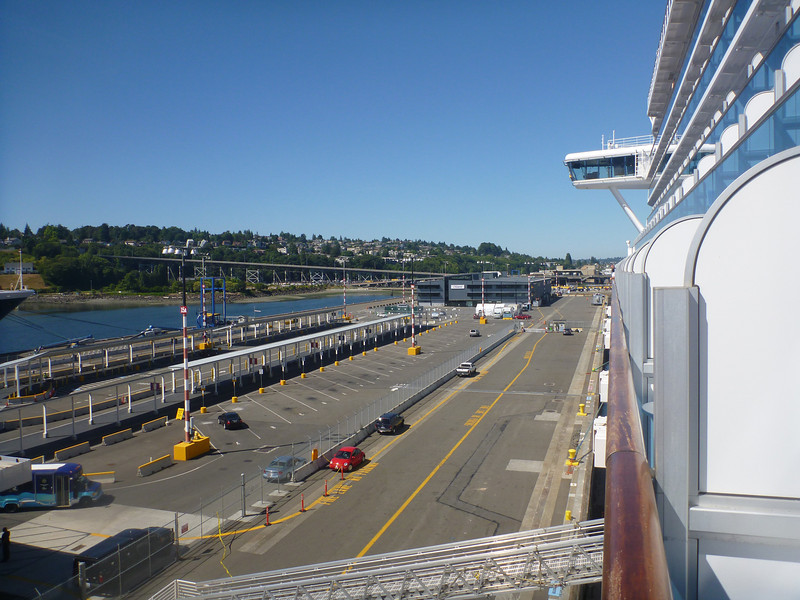 The Seattle port where we boarded the ship.