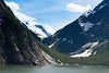 A U-shaped valley created by glaciers along Tracy Arm fjord.