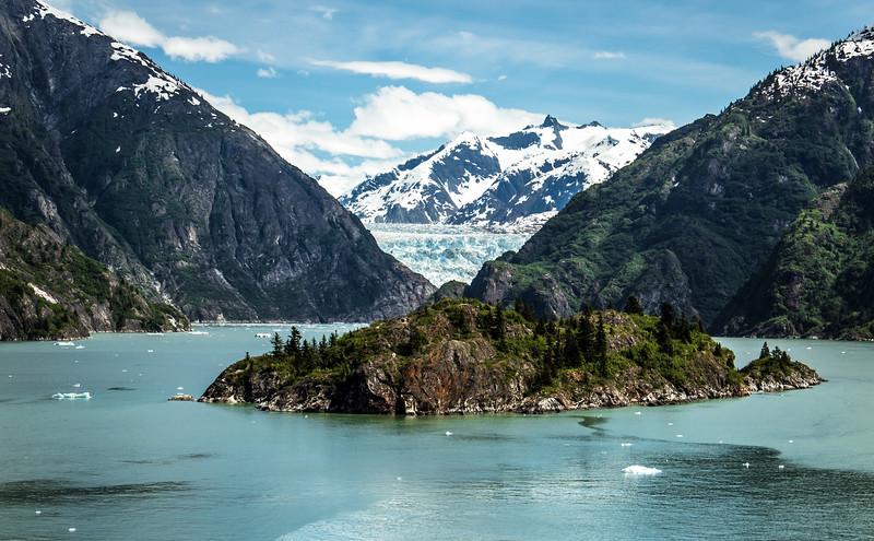 Island with East Sawyer Glacier