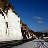 Driving north on Seward highway on the way to Alyeska Skii Resort