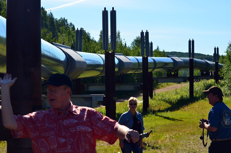 Allan is going to hold up the oil pipeline...