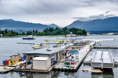 Planes on waterfront, Vancouver