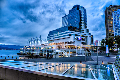 Waterfront Vancouver in Evening