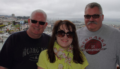 Larry, Michelle and Jim before some embarkation champagne.