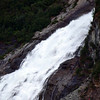 This waterfall is near the Mendenhall Glacier.