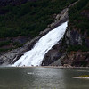 waterfall by Mendenhall Glacier
