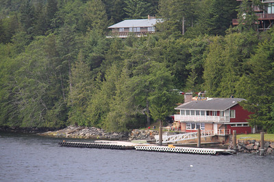 Nice house with its own dock on the outskirts of Ketchikan.