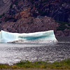 One lonely iceberg sat near the Mendenhall Glacier.
