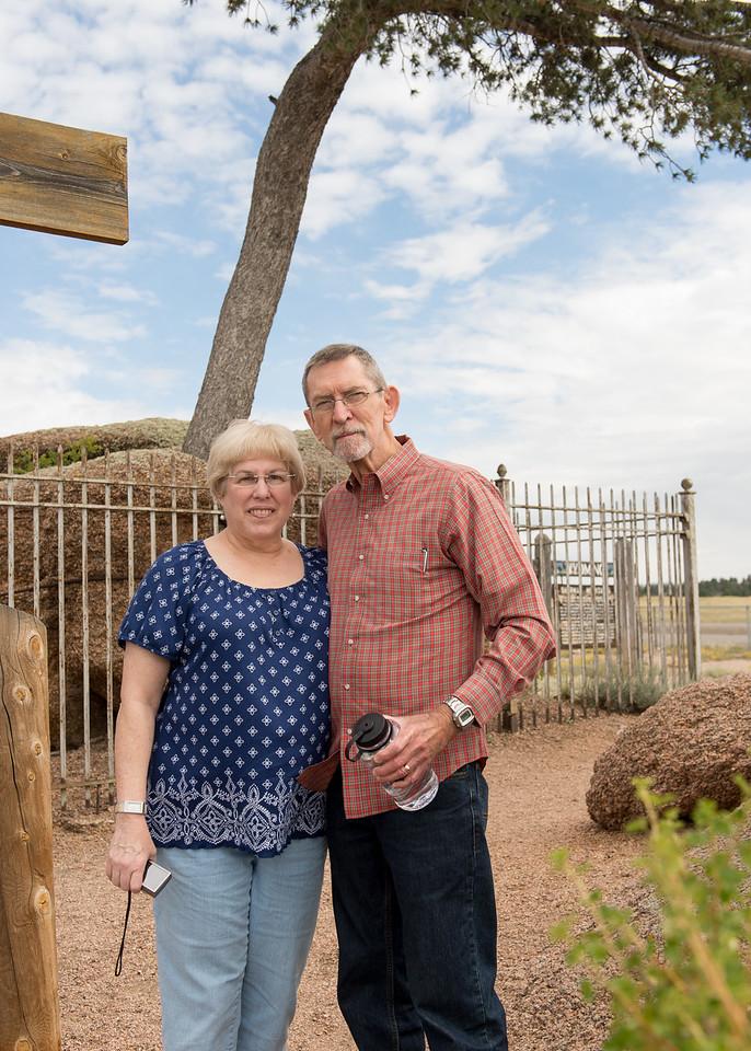 Charles and Barbara at Tree Rock