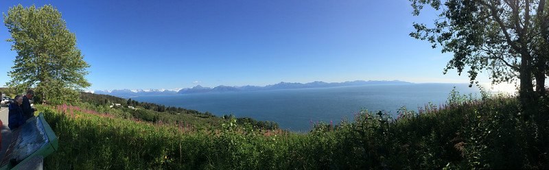 Looking out on Kachemak Bay, just outside of Homer, Alaska.