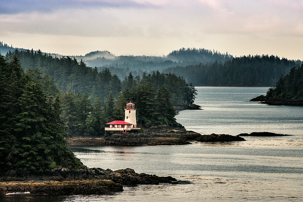Lighthouse in Sitka, Alaska.