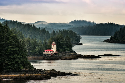 Lighthouse in Sitka, Alaska.