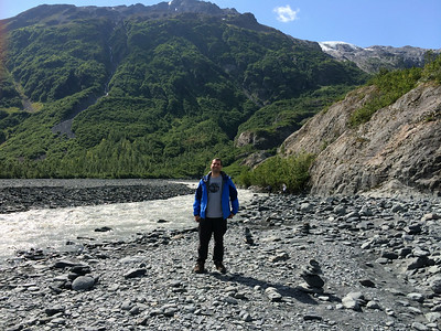 "Obligatory ""proof of attendance"" photos, Exit Glacier in Kenai Fjords National Park."