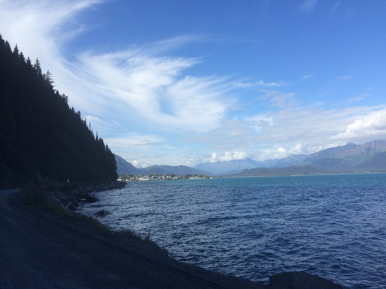 A view back toward town: Seward, Alaska.