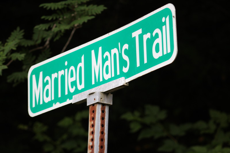 Married Man's Trail followed the creek, up stairs, through a neighborhood, and ultimately, to the Totem Heritage Center.