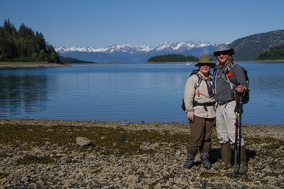 Me & Buffy at Fingers Bay, Glacier Bay National Park.