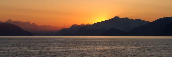 Sunset in Glacier Bay National Park