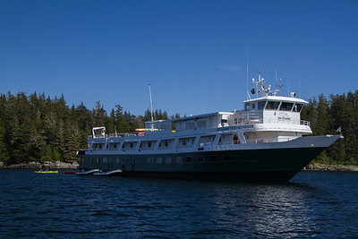 "Our home for a week: the Wilderness Discoverer (or as the crew called her, """"Wilderness Discofever!"")"