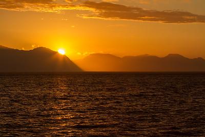 A gorgeous Alaskan sunset.