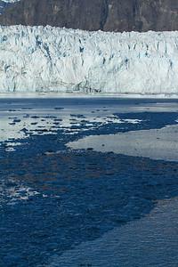 Floating ice debris near Margerie Glacier
