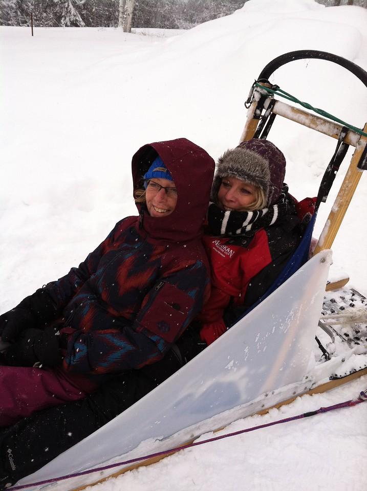 Linda and Audrey- mushers
