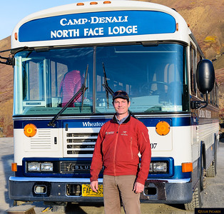 Portrait of Simon Hamm as we depart Camp Denali for our return home.