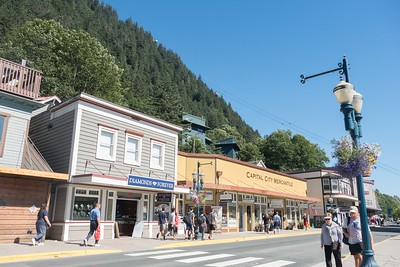 The tourist area of Juneau. Lots of jewelry shops.