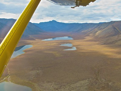 1950's DeHavilland Beaver comes to take us to Bettles. Gates of the Arctic National Park and Preserve in the Brooks Range of Alaska