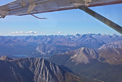 "Arrigetch Peaks.  From Fairbanks to Bettles on ""scheduled air"" with Wright Air Service.  From Bettles to the Brooks Range by float plane--the only way into the Park."