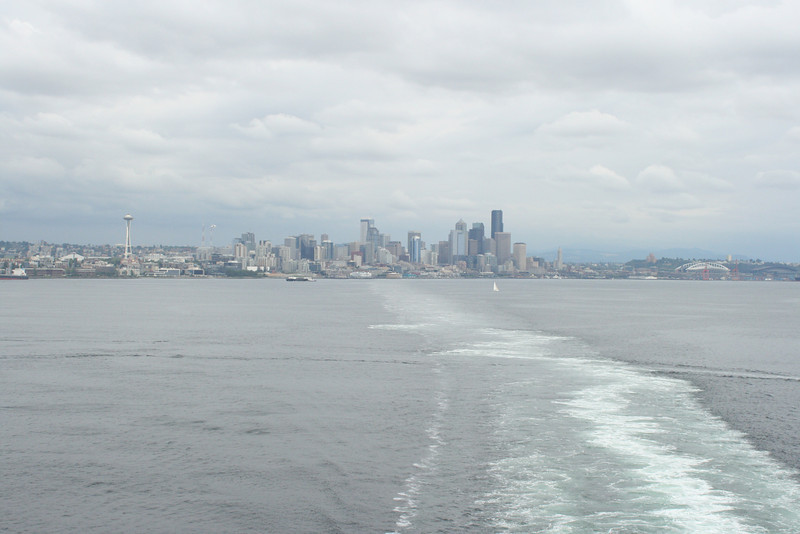 We take off from Seattle on Day 1 late . . . .