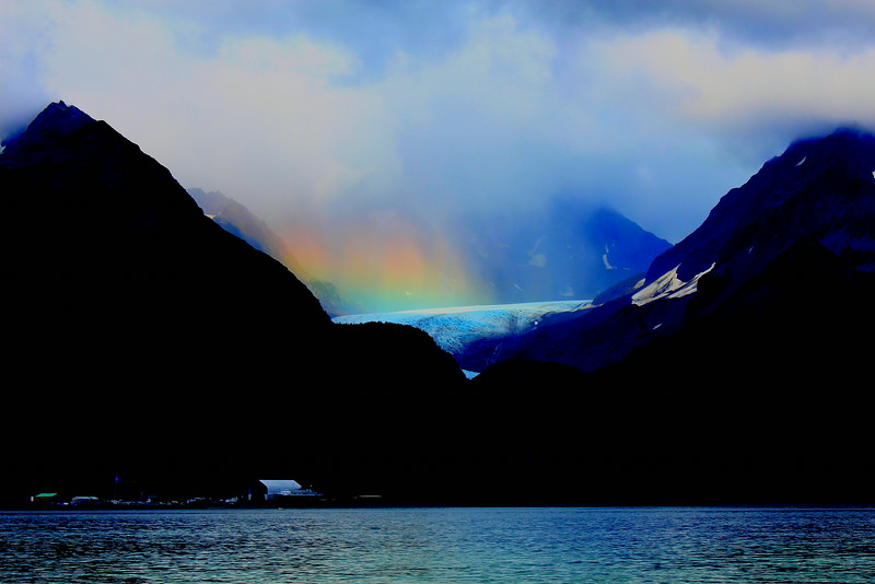 Rainbow on the bear glacier