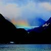 Rainbow on the bear glacier