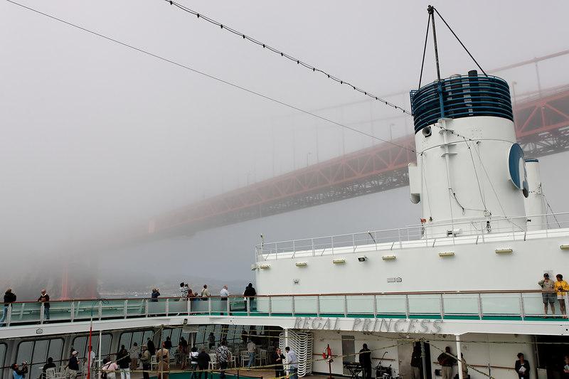 Going Under The Golden Gate Bridge