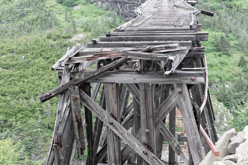 Old Trestle<br /> Skagway White Pass & Yukon Railroad