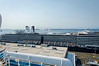 The Oosterdam (Holland America cruise line) docked at the same pier as our ship.