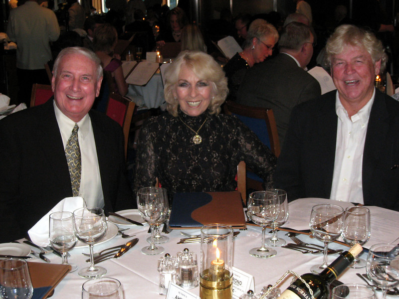 Bill, Babs & Woody - great dinner companions