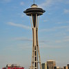 This is the Space Needle. As seen from the rooftop of our Inn.