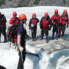 Our group having a chat about the glacier