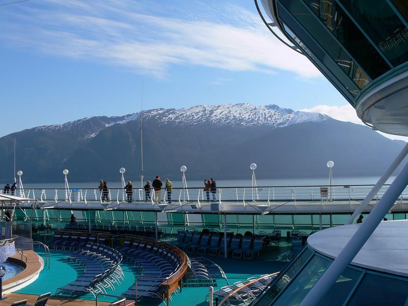 Looking across the Rhapsody top deck