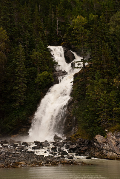 Dramatic Alaskan Waterfall
