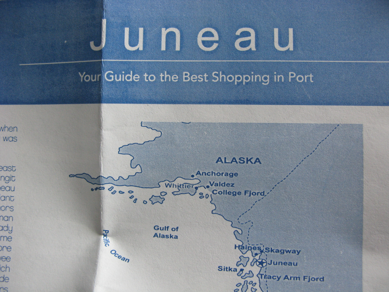 Juneau is the Capital 'city'.  Lauren was our funny tour guide...