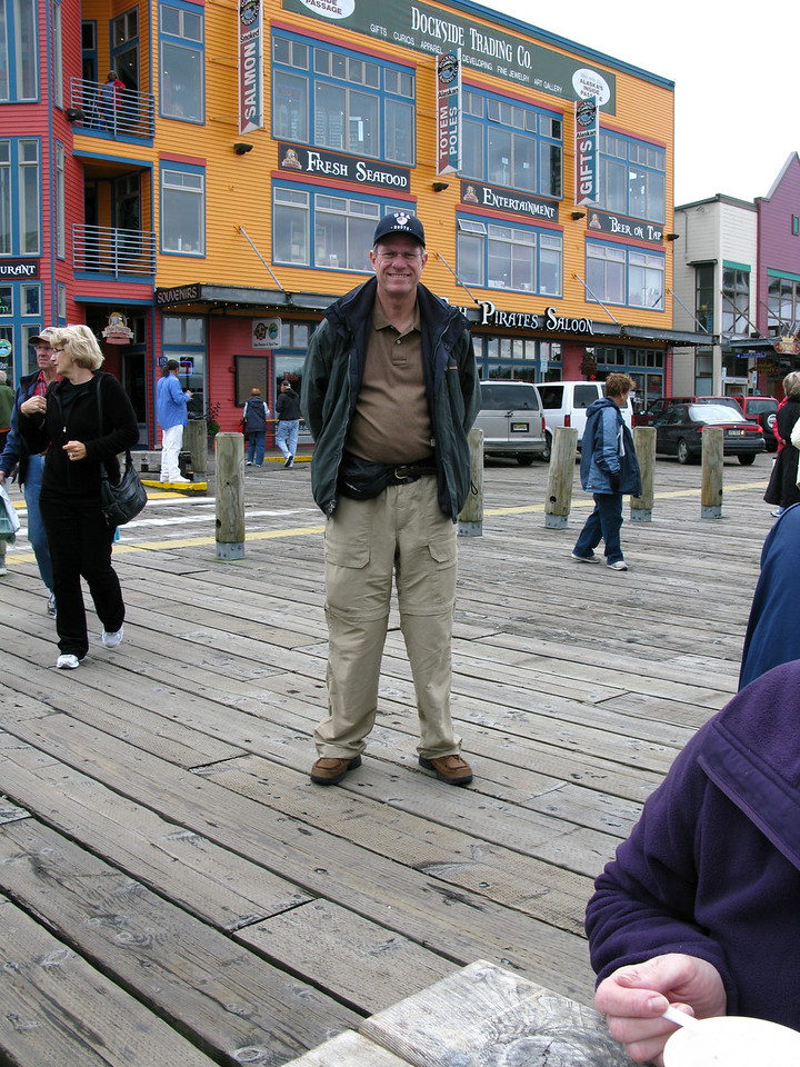 Since everyone over 30 in Ketchikan is a tourist, I didn't stick out at all...