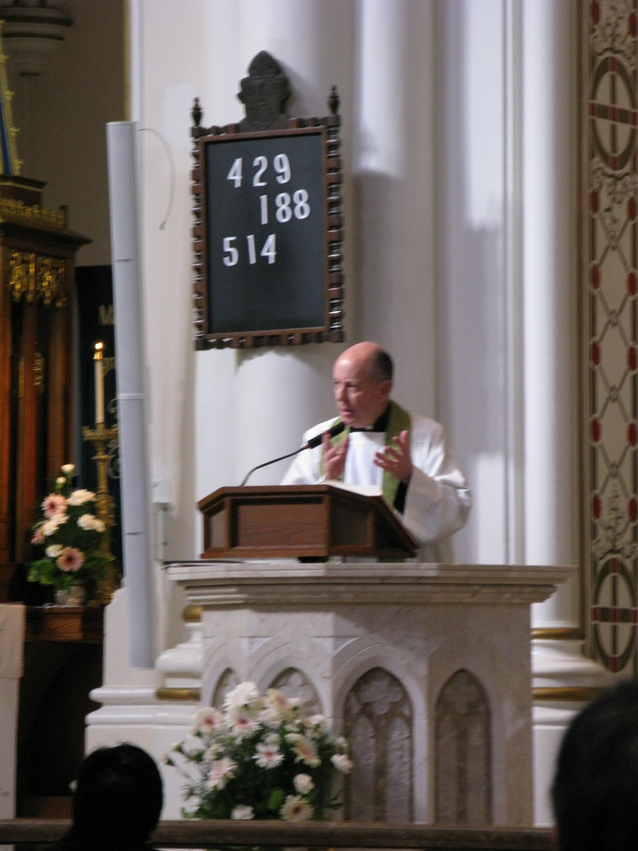 Only by the labeled photo in an out-of-the-way spot did we find out this was an Arch-bishop who only helped with communion.