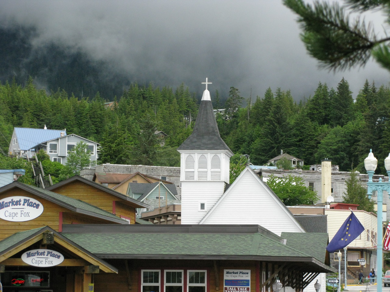 Ketchikan is a little landlocked town.  Everything here came by sea or air.  (So did the fog!)