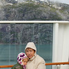 Sonya and grandmother in the Glacier Bay